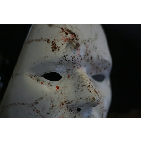 LAMINATED POSTER Blood Scary Horror White Mask Theatre Face Poster Print 24 x 36 - Horror Face Mask