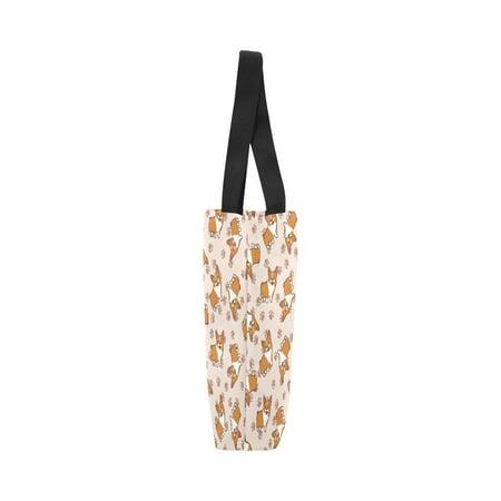 HATIART Cute Corgi Dog Reusable Grocery Bags Grocery Tote Bag Washable Shopping Bags Shoulder Handbag for Women - image 2 of 3