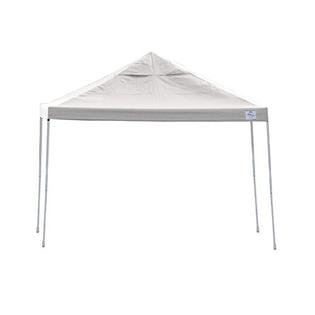 Open Top Pro Straight Leg 12 X 12 Ft. Pop-up Canopy ( White ) with Wheeled