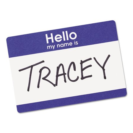 Avery  Print Or Write Name Badge Labels With Blue Border 5141  2 11 32  X 3 3 8   Pack Of 100