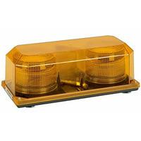 Wolo (3700M-A) Priority 2 Strobe Emergency Warning Mini Light Bar - Amber Lens, Magnet Mount
