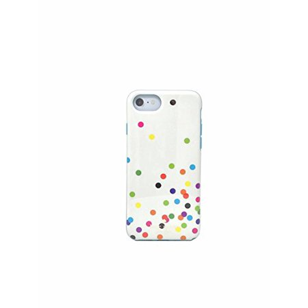 huge discount 83101 ddd57 Kate Spade New York Protective Rubber Case for iPhone 7 & iPhone 6/6s -  Confetti Dots Multi
