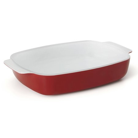 Creo SmartGlass Shanghai Small Baking Dish, Dark Red