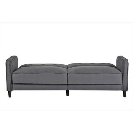 Childrens Chair Sleeper - US Pride Furniture Kawina Mid-Century Linen Fabric Sleeper Sofa Bed, Dark Gray