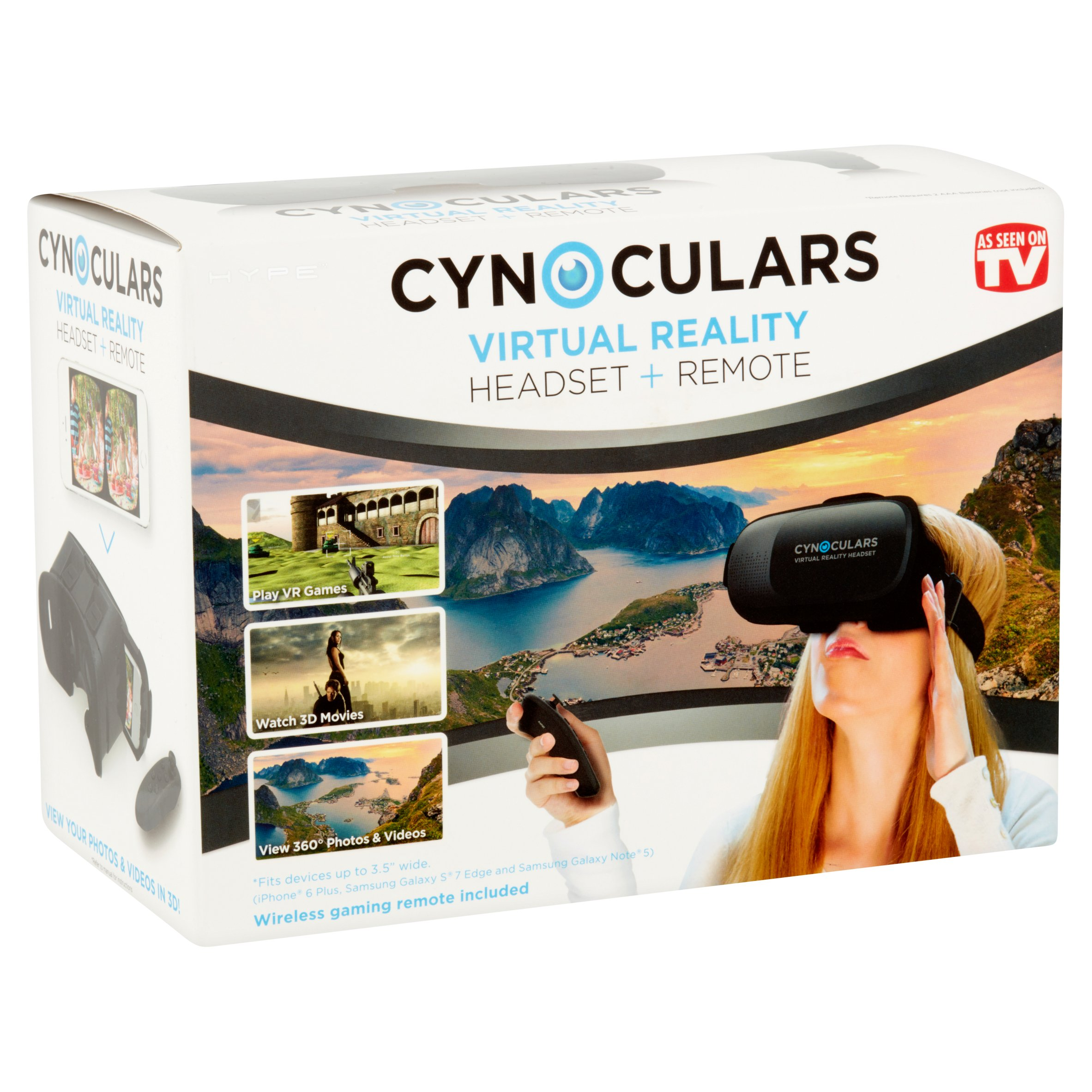 f4dfe2d9bf31 Cynoculars Mobile VR Headset and Remote - Walmart.com