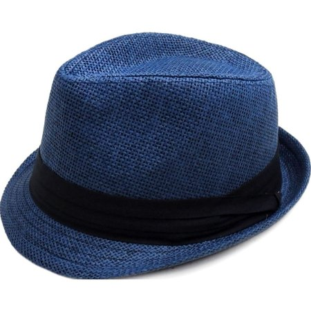 7b3ca849 Simplicity - Simplicity Women Men Summer Double Colors Straw Fedora Hat w/  Rasta Band - Walmart.com