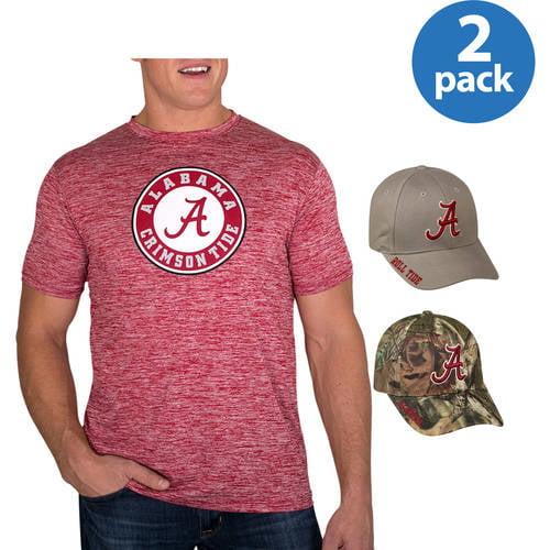 c90fbfa1e NCAA Men's Alabama Crimson Tide Impact T-Shirt and Cap Set, 2 Pack, Your  Choice - Walmart.com