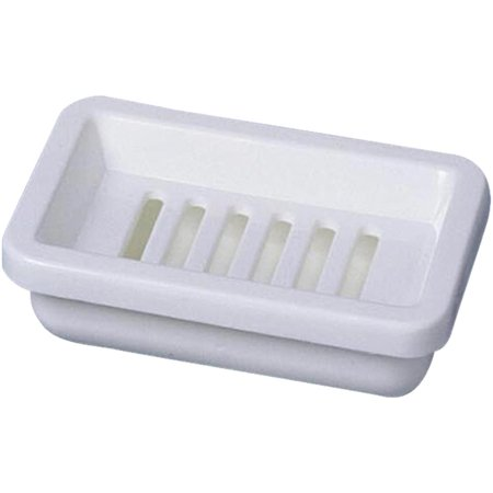 For The Bath Soap Dish - Homz Products/Bath 2pc White Soap Dish 22330202.36