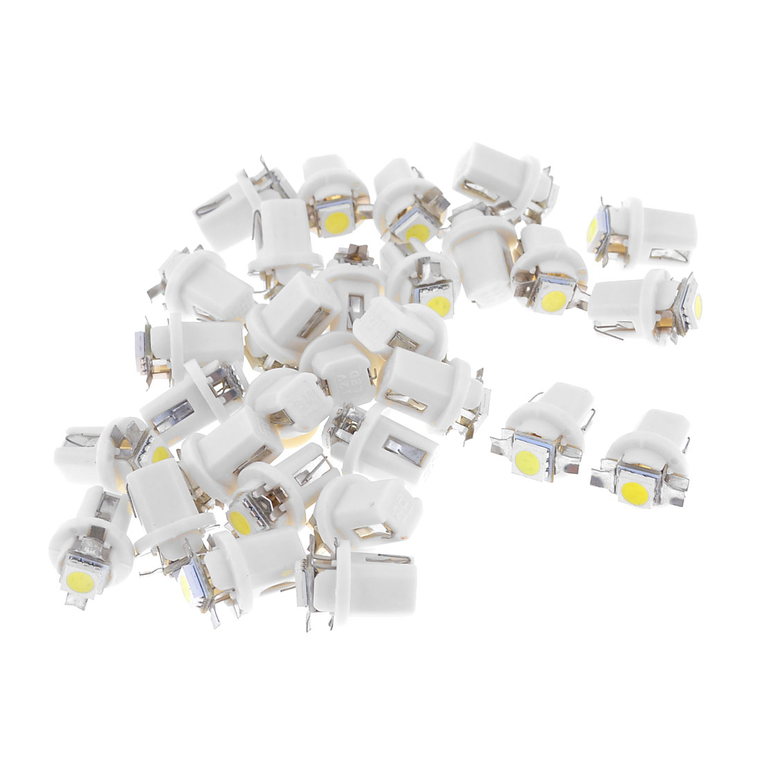 30 x White T5 B8.5D Auto 5050 SMD LED Dashboard Indicator Side Light Bulb