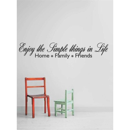 Decal Vinyl Wall Sticker Enjoy The Simple Things In Life Home