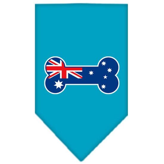 Bone Flag Australian  Screen Print Bandana Turquoise Small