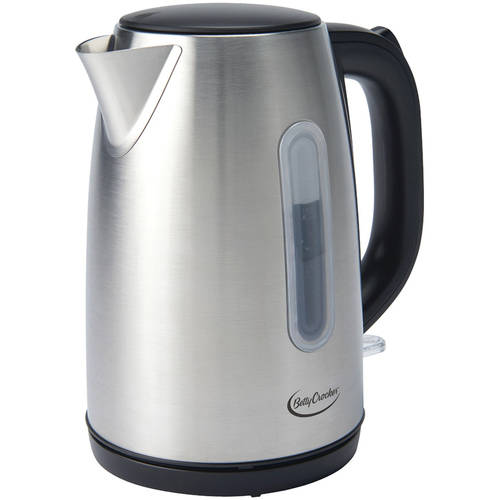 Betty Crocker BC-2855C 1.7-Liter Stainless Steel Cordless Kettle by BETTY CROCKER