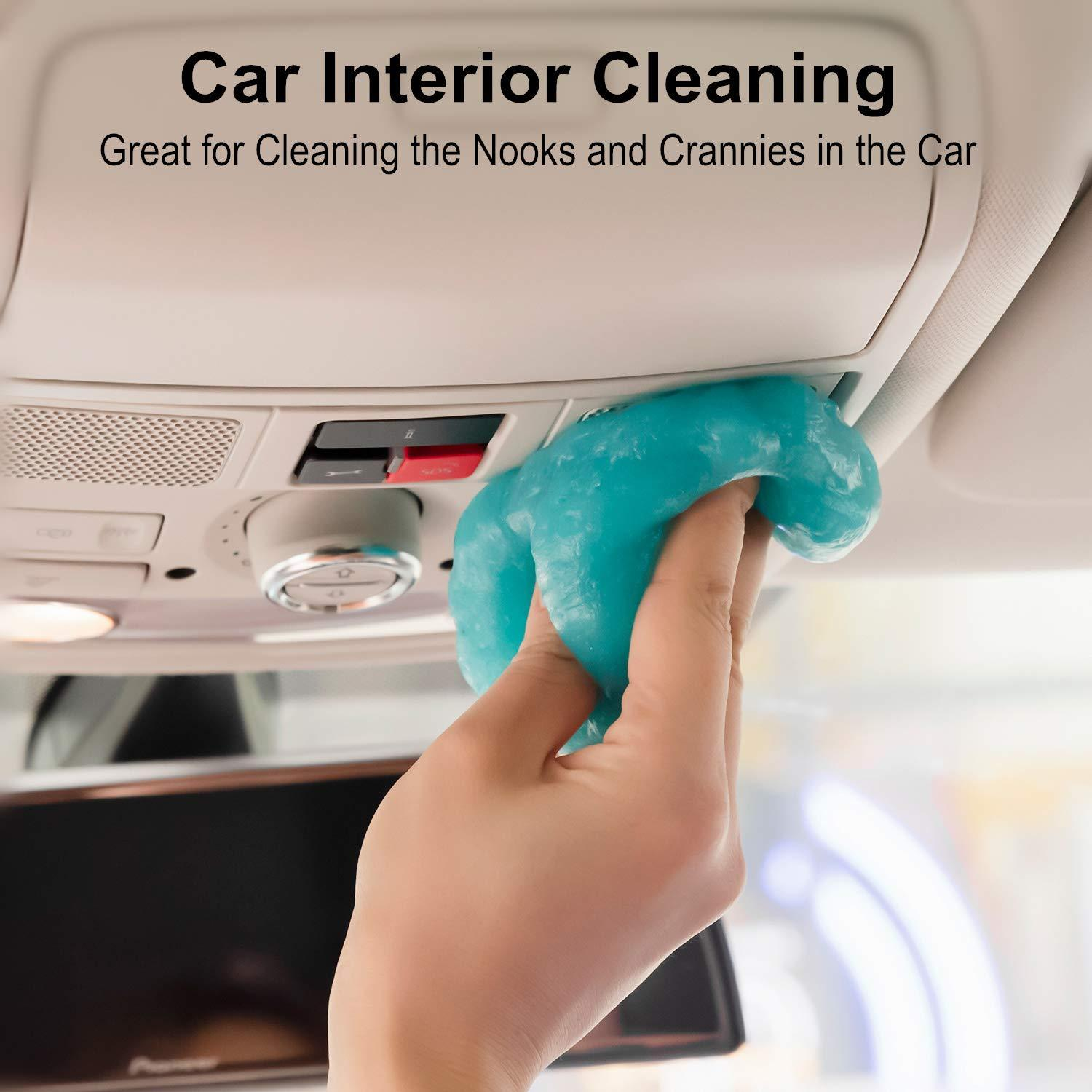 GeeRic Cleaning Gel for Car 2 Pack Keyboard Clean Mud Laptop Detailing Putty Auto Cleaning Detailing Gel Tools Car Interior Cleaner Universal Dust Removal Gel Vent Cleaner