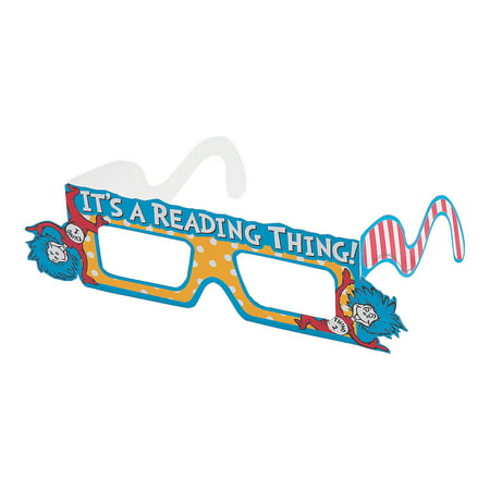 Dr Seuss Paper (Fun Express - Dr. Seuss Paper Glasses - Apparel Accessories - Eyewear - Novelty Glasses - 12)