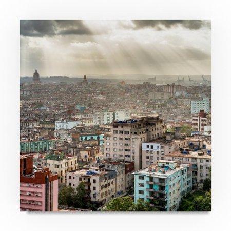 Trademark Fine Art 'Rays of Light on Havana 5' Photographic Print on Wrapped Canvas