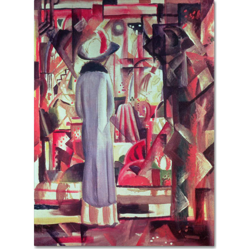 "Trademark Fine Art ""Woman In Front of a Window"" Canvas Art by August Macke"
