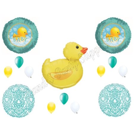 WELCOME BABY RUBBER DUCK Bubbles SHOWER Balloons Decoration Supplies - Rubber Duck Party Supplies