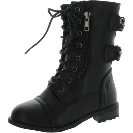 Girl Combat Boot (Link Mango-61K Girls Zipper Military Combat)