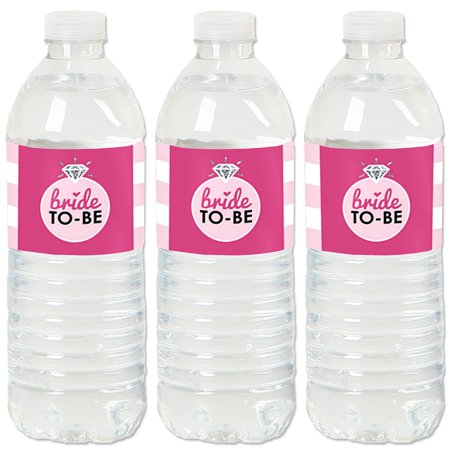 Bride-To-Be - Bridal Shower & Classy Bachelorette Party Water Bottle Sticker Labels - Set of 20