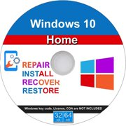 Windows 10 Home 32/64 Bit Install, Repair, Recover & Restore DVD