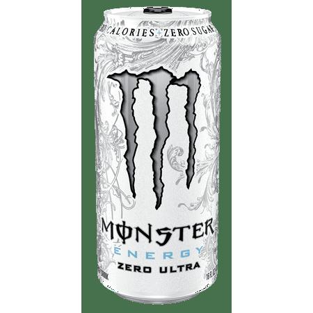 Monster Ultra Energy Drink  Zero  16 Fl Oz  4 Count