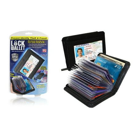 DELUXE Lock Wallet (Black) - RFID Blocking Wallets ()