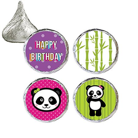 Panda Birthday Party Stickers, 324 Count - Panda Birthday Party Favors for Kids Panda Birthday Party Decoration Supplies - 324 Count Stickers
