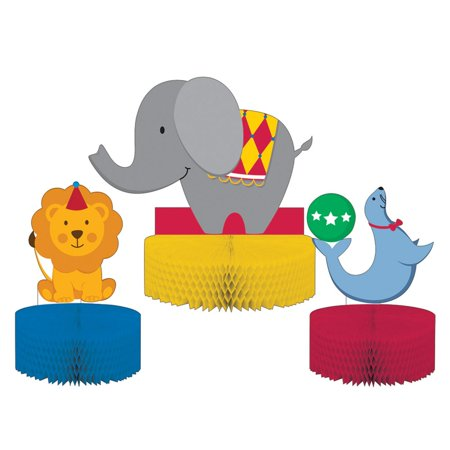 Pack of 6 Subtly Colored Circus Themed Decorative Centerpiece Standup 13.5""