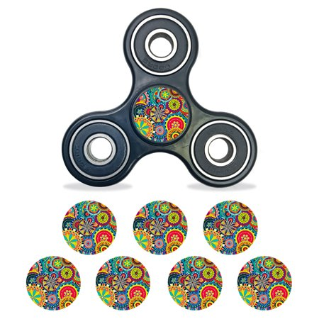 Skin Decal Wrap For Fidget Spinner Center Cap Bearing Cap 8 Pack Flowers