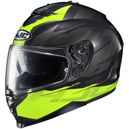 HJC IS-17 Tario Helmet Hi-Viz Yellow (MC-3H) (Green, Medium)