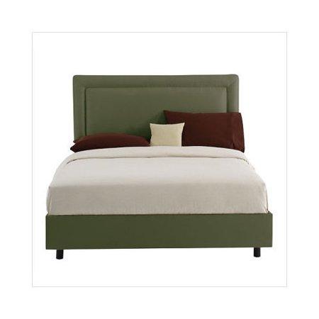 Skyline Border Upholstered Panel Bed Furniture