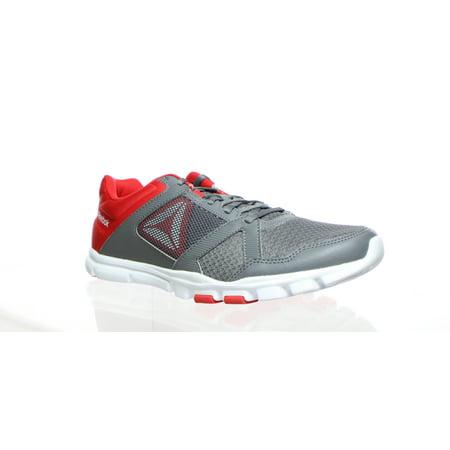 Reebok Mens Yourflex Train 10 Gray Cross Training Shoes Size