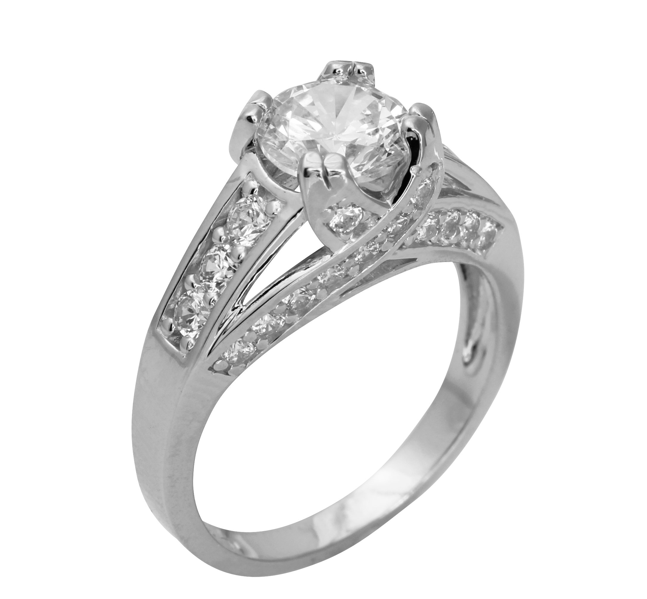 4 Ct Round Black Real 14K White Gold Solitaire Engagement Wedding Promise Ring