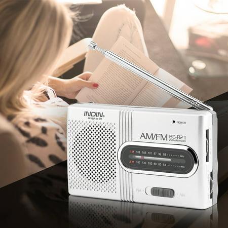 EECOO Portable Radio FM Radio,Universal Portable AM/FM Mini Radio Stereo Speakers Receiver Music Player