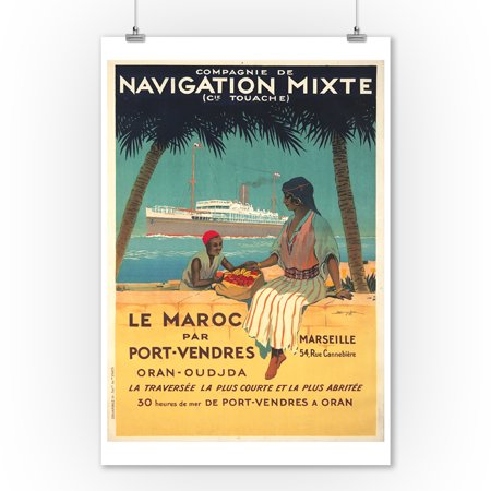 Navigation Mixte Vintage Poster (artist: Hook, Sandy) France c. 1920 (9x12 Art Print, Wall Decor Travel Poster)](Vintage Halloween Photos 1920)
