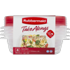 Rubbermaid TakeAlongs Food Storage Containers, 2.9 Cup, 4-Pack
