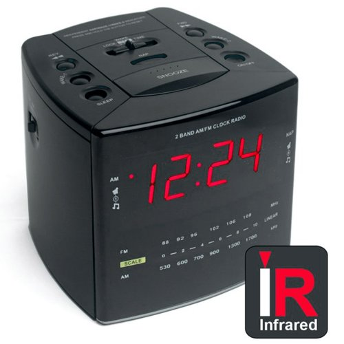 Click here to buy DIGI TRANSMITTER IR ALARM CLOCK by KJB Security.