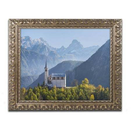 Trademark Fine Art Sublime Vista Canvas Art By Michael Blanchette Photography  Gold Ornate Frame