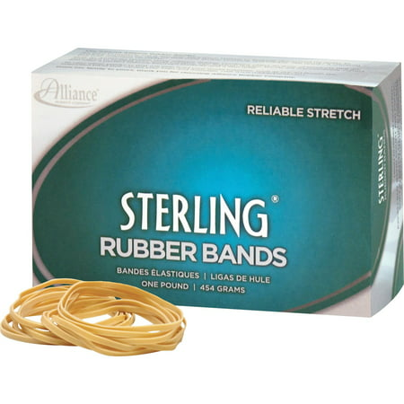 Alliance Rubber, ALL24195, Sterling Rubber Band, 1 Box, Natural Crepe