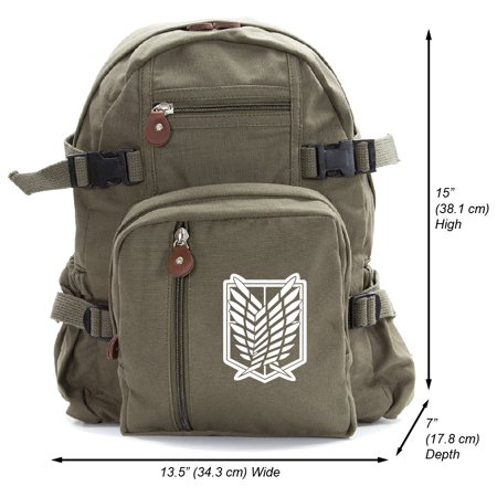 Attack on Titan Dual Wing Heavyweight Canvas Backpack - Pilot Wings Backpack