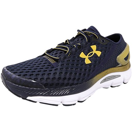 new style 14462 ac484 Under Armour Men's Speedform Gemini 2 Midnight Navy / Metallic Gold  Ankle-High Running Shoe - 9.5M
