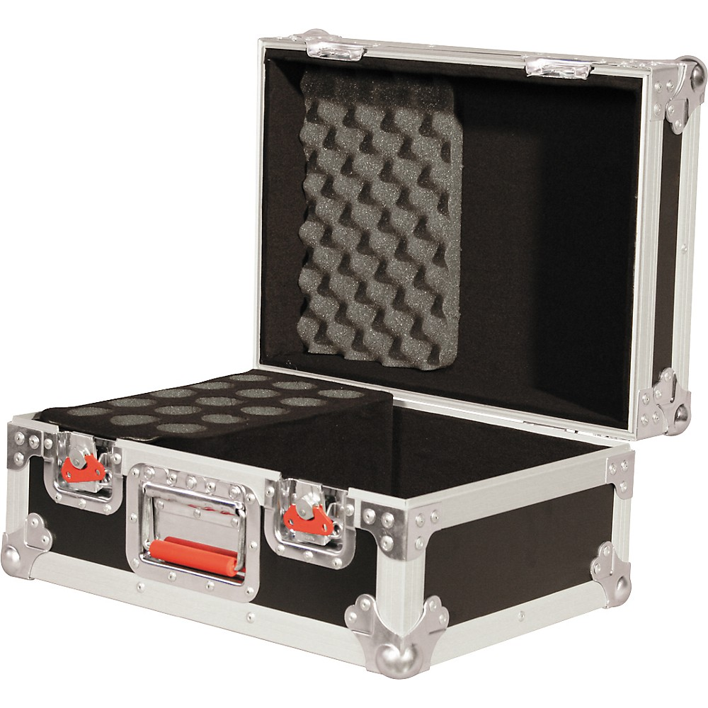 Gator ATA 15 Drop Microphone Case with Recessed Locking Latches and Cable Storage, G-Tour M15