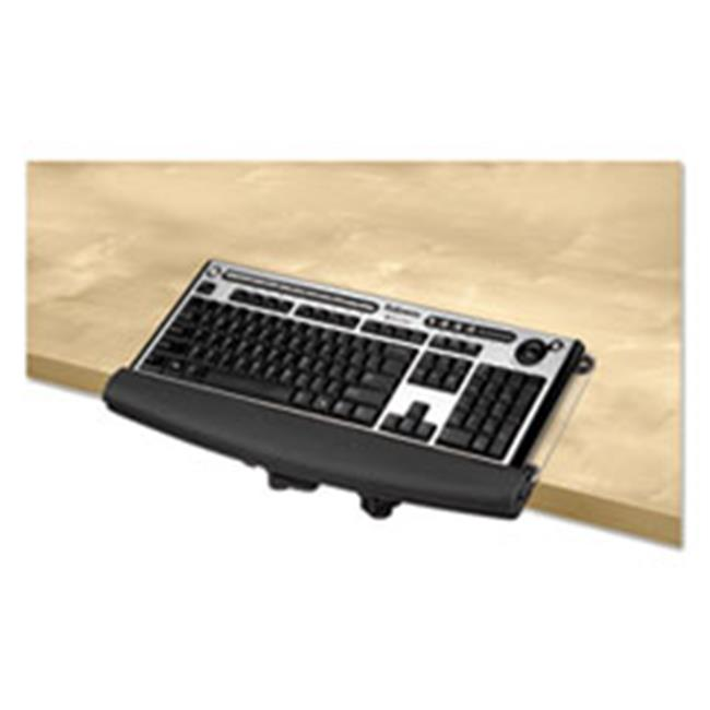 Fellowes Manufacturing 9473401 I-Spire Series Desktop Edge Keyboard Lift, Black & Gray - 18.44 x 8.37 in.