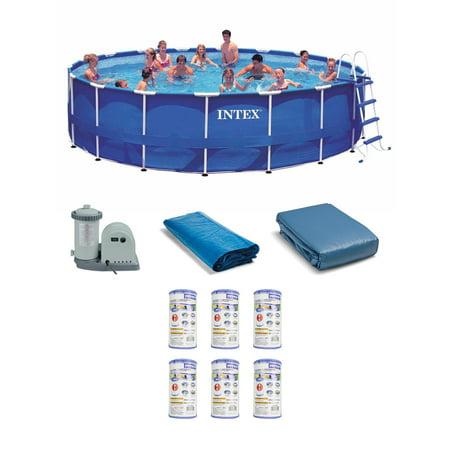 Intex 18 39 x 48 metal frame swimming pool set with pump - Swimming pool cartridge filters pump ...