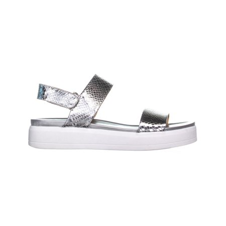 97bd3a1837 Franco Sarto Kenan Platform Wedge Sandals, Silver - image 1 of 6 ...