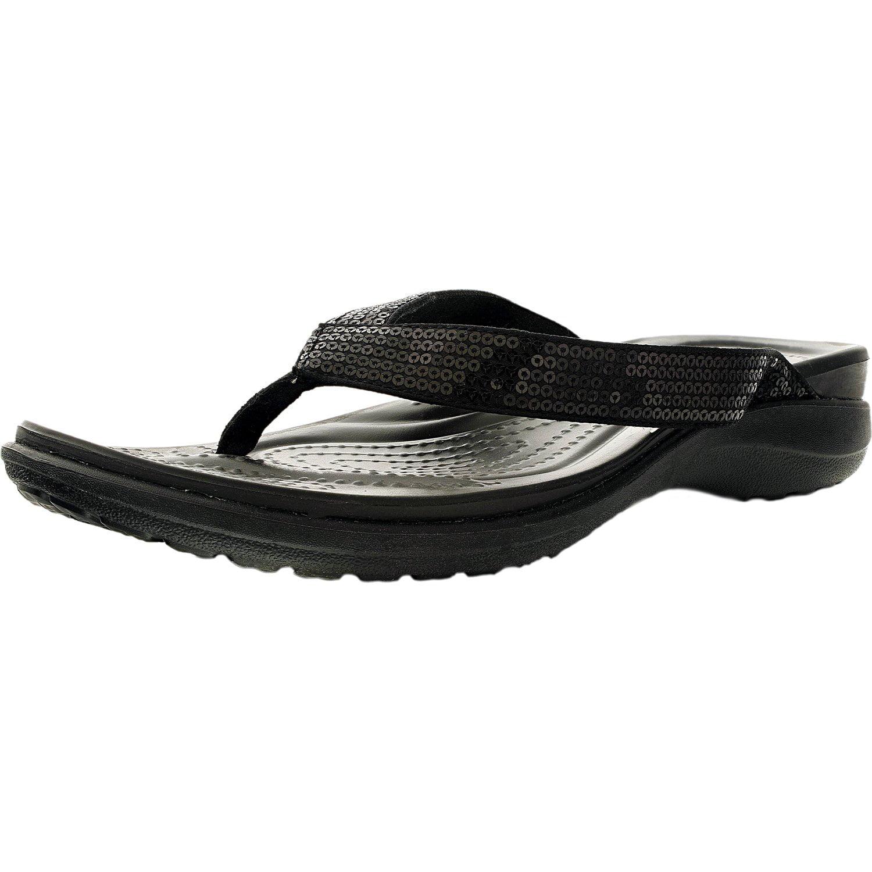5cdabbde2e1 Crocs Women s Capri V Sequin Flip W Ankle-High Flat Shoe - Walmart.com
