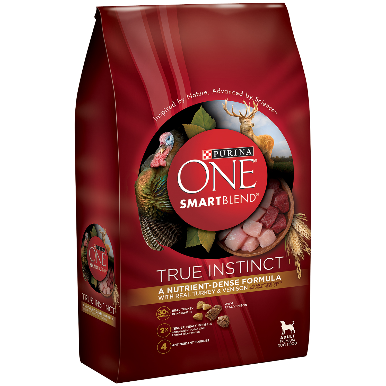 Purina ONE SmartBlend True Instinct with Real Turkey & Venison Adult Premium Dog Food 3.8 lb. Bag
