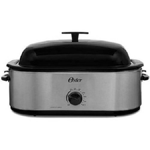 Oster CKSTRS18 24LB Turkey Roaster Oven with High Dome 18...