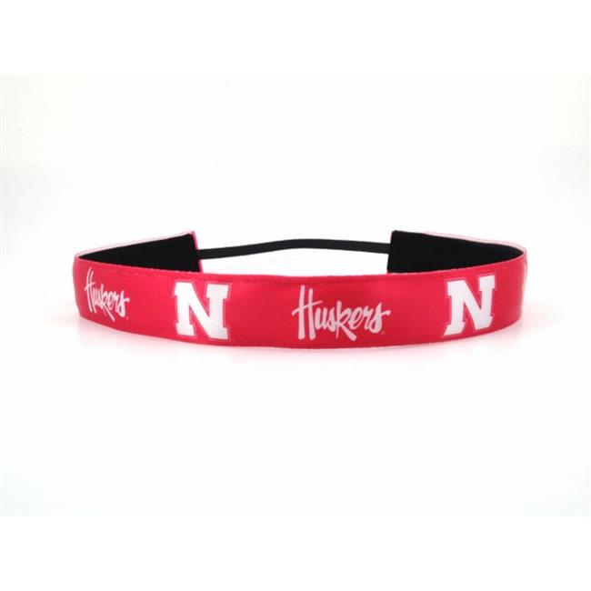 One Up Bands 1452 NCAA Nebraska Team Colors Headband - Pack of 2