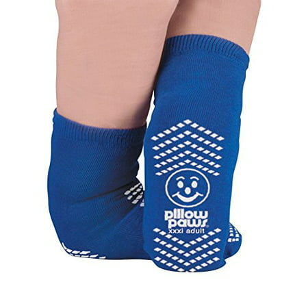 Slip Resistant Single Print XXXL Bariatric Size Slipper Socks Royal Blue Color 6 Pair Per (Socks Case)